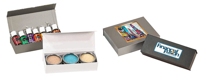Full Color Printed Shallow Magnetic Boxes