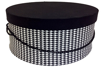 Houndstoth Hat Boxes