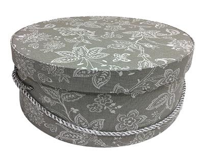 Grey Floral Hat Boxes