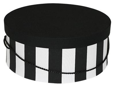 Black White Wide Stripe Hat Boxes