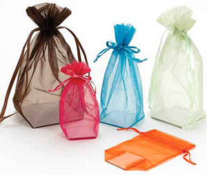 Sheer Square Bottom Pouches