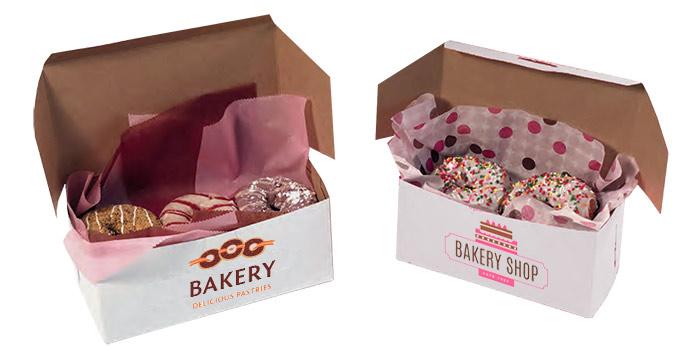 Kwik-Print Imprinted White Bakery Boxes