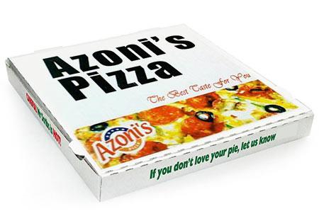 Short Run Full Color Corrugated Pizza Boxes