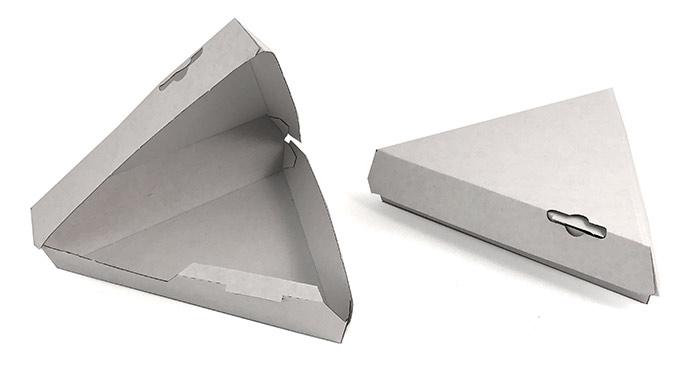 White Single Slice Clamshell