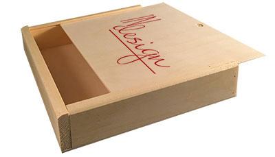 Wooden Slide Top Boxes