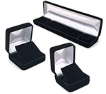 Bulk Luxurious Black Velvet Boxes