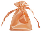 Gold Satin 4x6 Pouch With Satin Drawstring