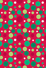Christmas Dots Red