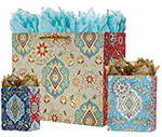 Tapestry Gift Totes Rope Handles Collection