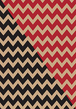 Chevron Black / Red Kraft Reversible