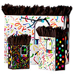 Confetti Gift Totes Rope Handles Collection