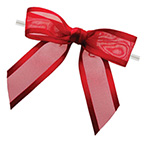 Pretied Ballet Bows With Wire Twist