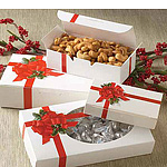 Ribbon and Holly Candy Boxes