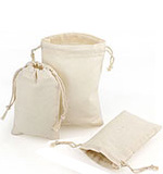 25 Pack Natural Cotton Pull Drawstring Pouches