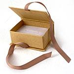 JB32 Brown Kraft Ribbon Jewelry Boxes