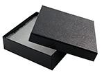 Black Swirl 33 Jewelry Box Cotton Insert