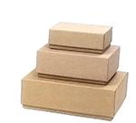 Plain Kraft Rigid Gift Boxes