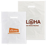 Frosted Clear Imprinted Diecut Handle Bags