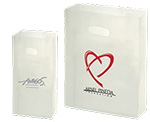 Frosted Clear Imprinted SOS Diecut Handle Bags