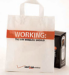 Custom Imported Plastic Bags w/Soft Loop Handle