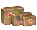 Gold Color Metallic Tins w/Full Color Imprint