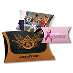 Four Color Custom Printed Lip-N-Tape Pillow Boxes from Your Supplied Photography/Artwork