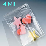 4 mil. Layflat Polyethylene Bags