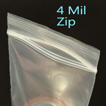 Medium Duty 4mil Zip Style Bags