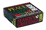 Holiday Chalkboard Corrugated Mailer Boxes
