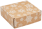 Kraft Snowflakes Corrugated Mailer Boxes