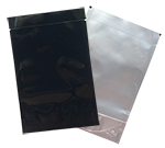 Reclosable 4x6 Black/Clear 5mil Oval Bottom Foil Bags