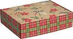 Holly-Day Plaid Corrugated Mailer Boxes