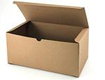Economy Kraft Groove Pinstripe 1 Piece Gift Boxes