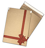 Holiday Bow Kraft Cardboard Mailers