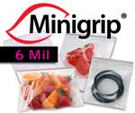 6 Mil. Premium Minigrip Red Lined Bags