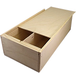 Double Bottle Wooden Wine Box