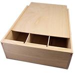 Triple Bottle Wooden Wine Box
