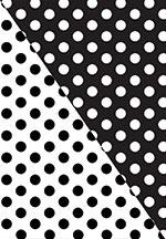 Polka Dot Black / White Reversible