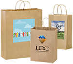 Short Run 4 Color Imprint Brown Kraft Bags