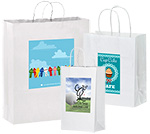 Short Run 4 Color Imprint White Kraft Bags