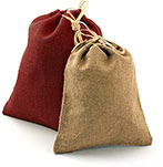 Large Natural Jute Gift Pouches