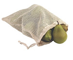 Natural Cotton Net Drawstring Pouches