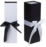 Rigid Ribbon Tie Wine Box