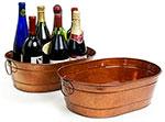 15in. Oval Tub Copper Finish Tub w/Side Handles