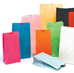 Stand Up Colored Paper Bags, Blank
