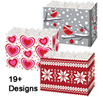 Holiday Theme Gift Basket Boxes and Accessories