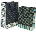 Squares & Lines Gift Totes Rope Handle Assortment