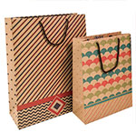 Kraft Geo-Art Gift Totes Rope Handle Assortment