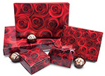 Quick Print Dark Roses Paper Candy Boxes