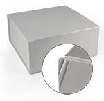 Dented White 10 x 10 x 4 1/2 Magnetic Gift Boxes